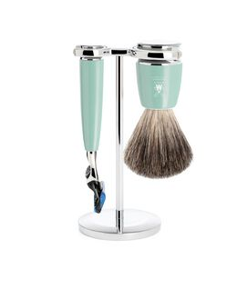 RYTMO Pure Badger Shaving Set with Gillette® Fusion™ - Mint