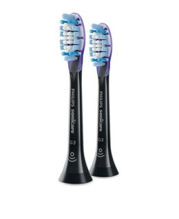 Sonicare G3 Premium Gum Care standard brush heads, Black 2 pack