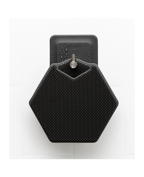 Body Scrubber & Hook | Charcoal