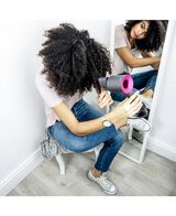 Supersonic Hair Dryer - Iron and Fuchsia
