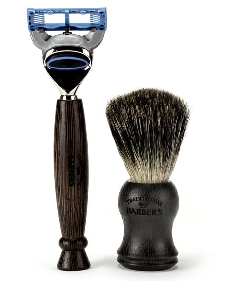 Wenge Wood Gift Set  with Black Badger Bristle Brush