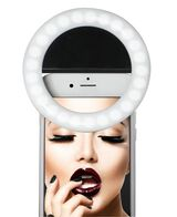 LED Selfie Light and Mini Kiss Proof Matte Lipstick - Candy Chanel