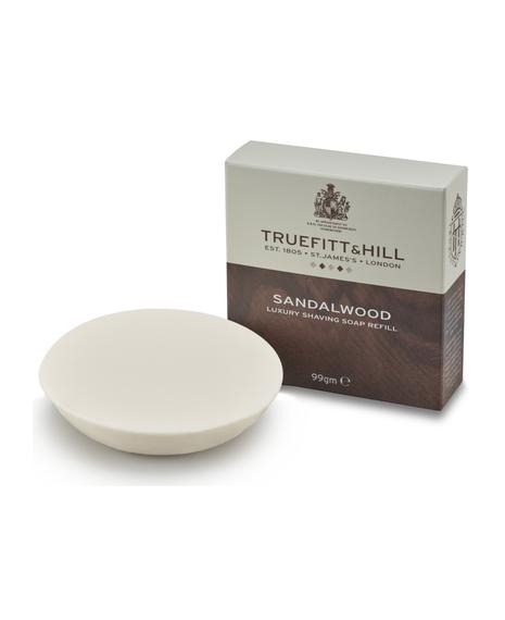 Sandalwood Luxury Shaving Soap Refill For Wooden Bowl