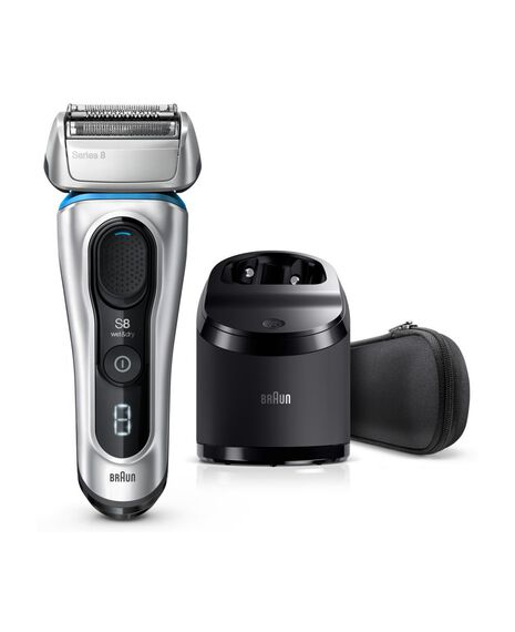 Series 8 Next Generation Wet & Dry Electric Shaver with Clean&Charge Station and Fabric Travel Case