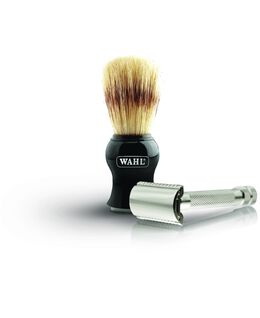 Wahl Safety Razor & Boar Brush Set