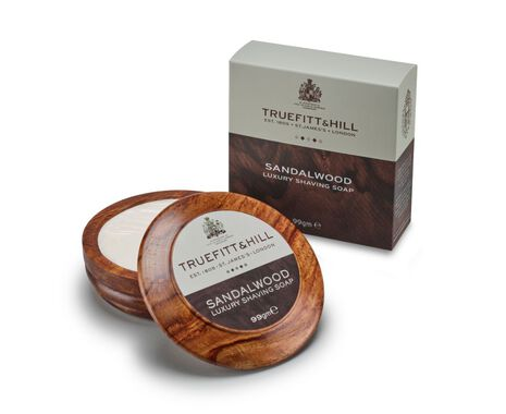 Sandalwood Luxury Shaving Soap in Wooden Bowl - 99g
