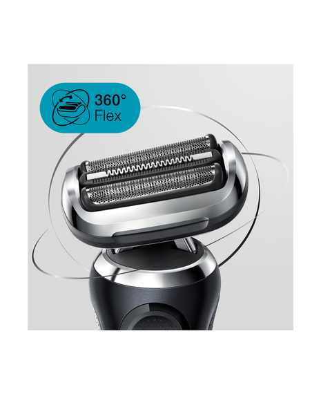 Series 7 Wet & Dry Shaver with Precision Trimmer Head & Clean & Charge Station