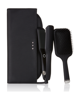 max wide hair straightener gift set with paddle hair brush & bag