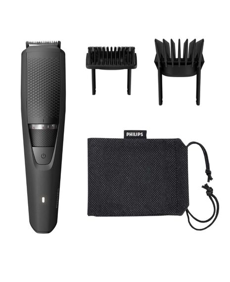 Series 3000 Beard Trimmer with Guide Combs and Travel Pouch
