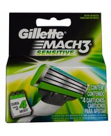 Mach 3 Sensitive Blades Refill 4 Pack