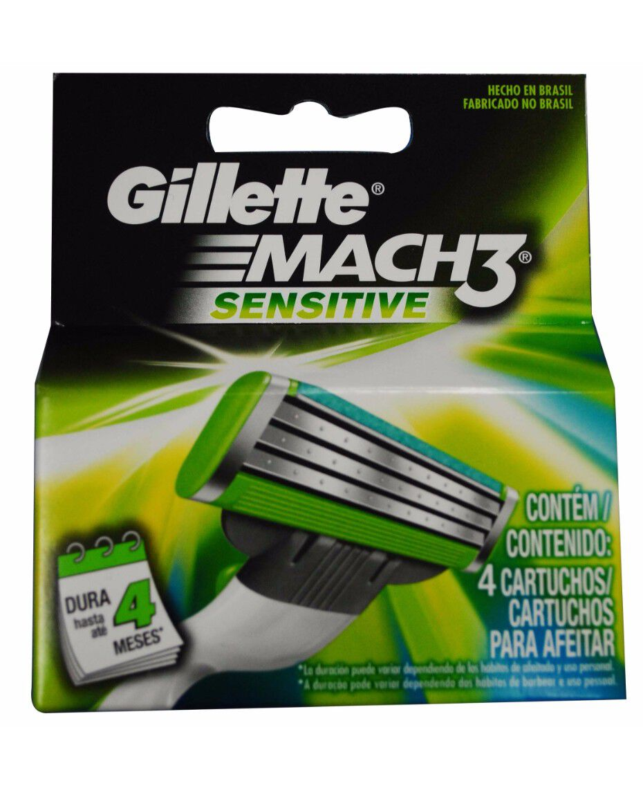 Gillette | Mach 3 Sensitive 4 Pack Blades | Shaver Shop