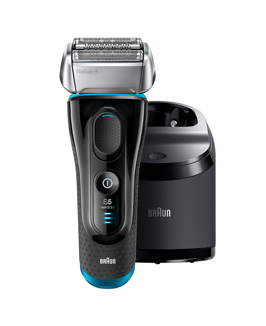 braun series 5 wet dry electric shaver silver black plus. Black Bedroom Furniture Sets. Home Design Ideas