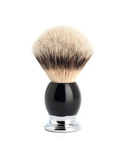 Silver Tip Badger Brush - Black