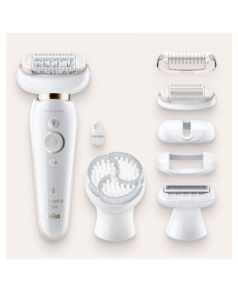 Silk-épil 9 Flex Epilator with Exfoliation Brush