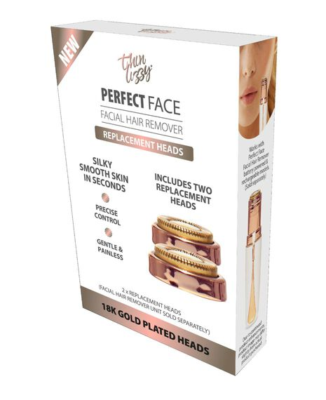 Perfect Face Facial Hair Remover Replacement Heads 2PK