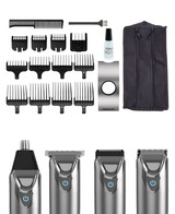 Superior Performance Stainless Steel Lithium Ion Grooming Kit - Silver