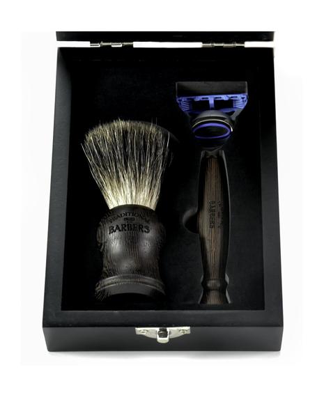 Wenge Wood Gift Set with Black Bristle Brush