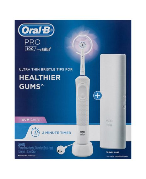 Pro 100 Gum Care Electric Toothbrush, White