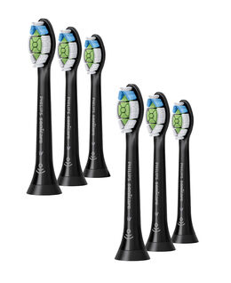 Optimal White Standard Brush Head 6pk - Black