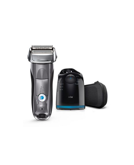 Series 7 Electric Wet and Dry Shaver with Pop Up Precision Trimmer, Clean & Charge Station and Travel Case