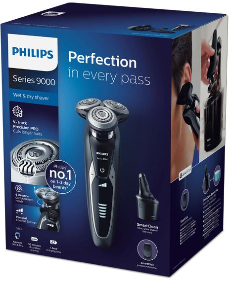 Series 9000 Shaver with Smart Clean Station and Travel Case
