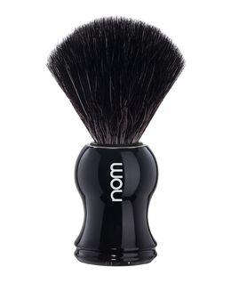 Nom Black Fibre Shaving Brush - Black