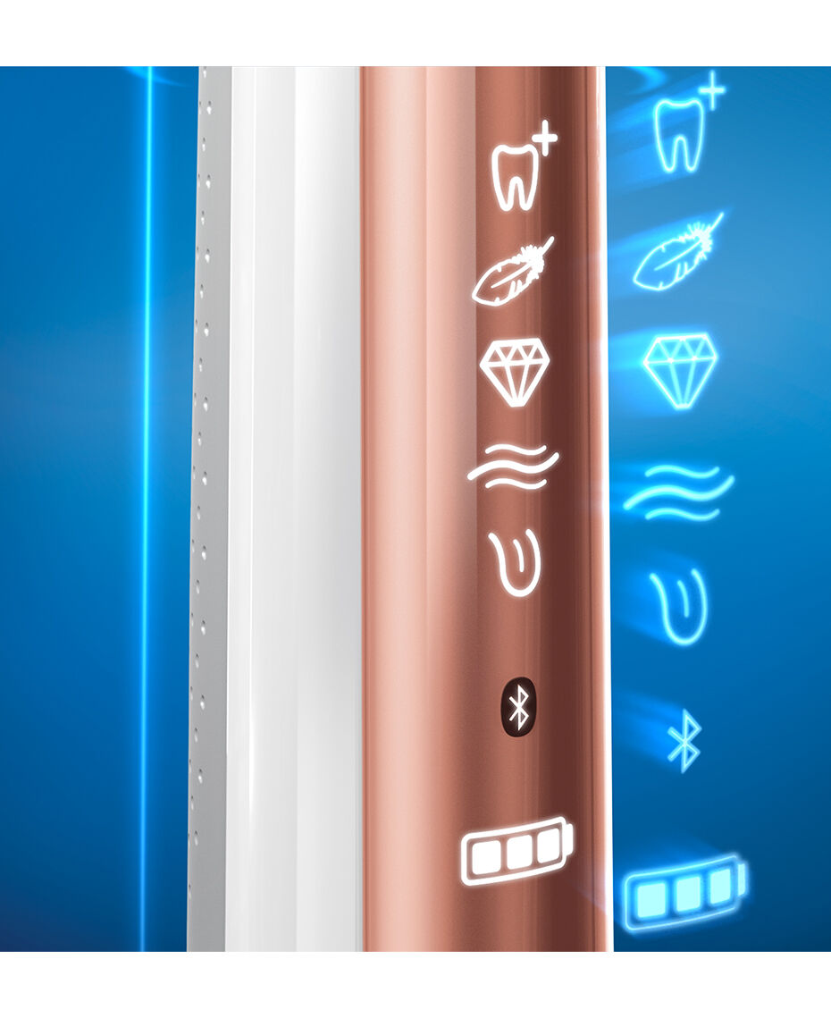 Oral-B | Genius 9000 Rose Gold Electric Toothbrush | Shaver Shop