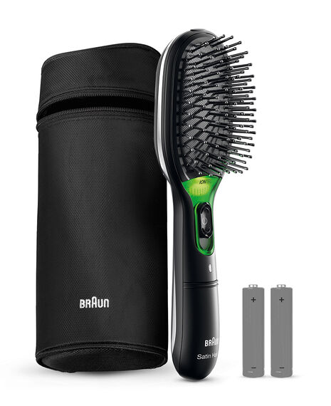 Satin Hair Brush Iontec 730 with travel case