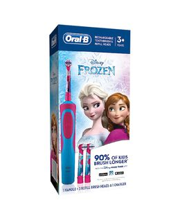 Kids Stages Frozen Electric Toothbrush & 3 Replacement Brush Heads Refills