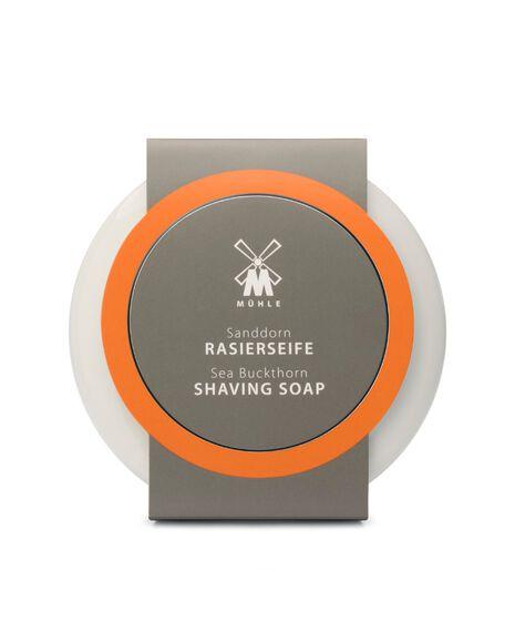 Shaving Soap in Porcelain Bowl - Sea Buckthorn