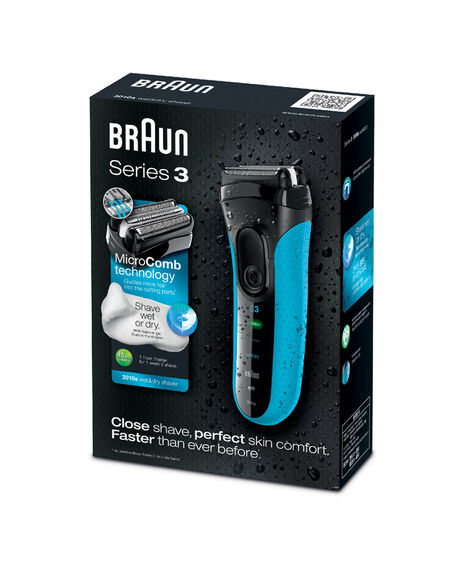 Series 3 ProSkin 3010s Wet/Dry Electric Shaver Blue